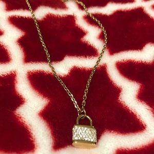 Michael Kors Rose Gold Lock Necklace
